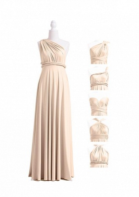 Champagne Multiway Infinity Bridesmaid Dresses | Convertible Wedding Party Dress_4