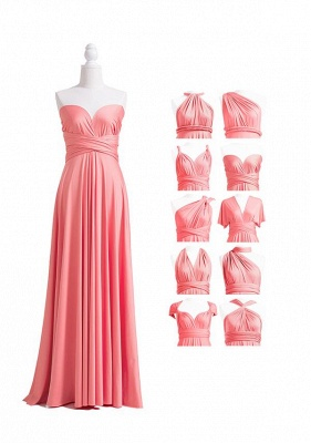 Coral Pink Multiway Infinity Bridesmaid Dresses   Convertible Wedding Party Dress_4