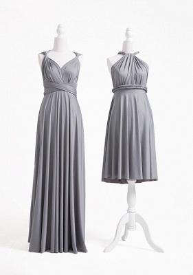Grey Multiway Infinity Bridesmaid Dresses | Convertible Wedding Party Dress_2