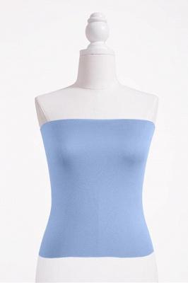 Bandeau Bikini Top for Women Solid Crop Bandeau Top_14