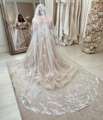Luxury Plus Size A-Line Sweetheart Long Sleeves Wedding Dresses_2