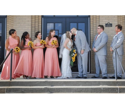 Peach Coral Multiway Infinity Bridesmaid Dresses   Convertible Wedding Party Dress_5