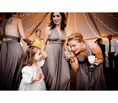 Taupe Multiway Infinity Bridesmaid Dresses | Convertible Wedding Party Dress_3