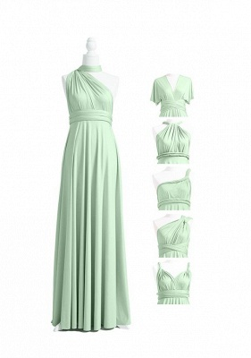 Sage Green Multiway Infinity Bridesmaid Dresses   Convertible Wedding Party Dress_4