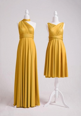 Mustard Yellow Multiway Infinity Bridesmaid Dresses   Convertible Wedding Party Dress_2