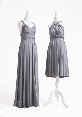 Grey Multiway Infinity Bridesmaid Dresses | Convertible Wedding Party Dress_3