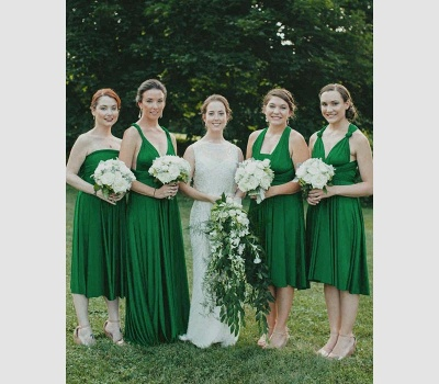 Emerald Green Multiway Infinity Bridesmaid Dresses   Convertible Wedding Party Dress_2