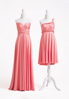 Coral Pink Multiway Infinity Bridesmaid Dresses   Convertible Wedding Party Dress_2