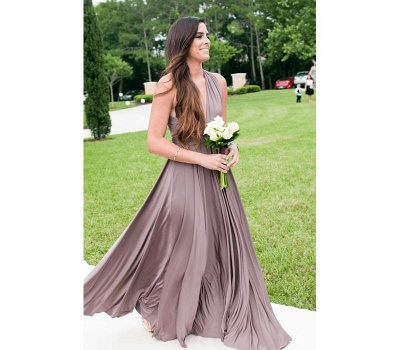 Taupe Multiway Infinity Bridesmaid Dresses | Convertible Wedding Party Dress_2
