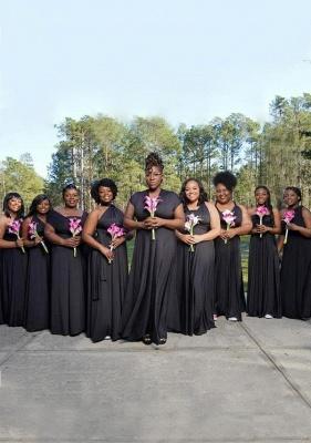 Black Multiway Infinity Bridesmaid Dresses | Convertible Wedding Party Dress_1