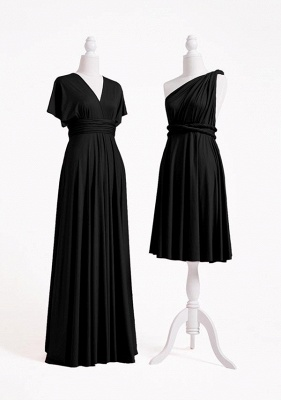 Black Multiway Infinity Bridesmaid Dresses | Convertible Wedding Party Dress_3
