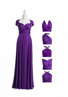 Purple Multiway Infinity Bridesmaid Dresses | Convertible Wedding Party Dress_4