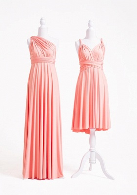 Peach Coral Multiway Infinity Bridesmaid Dresses   Convertible Wedding Party Dress_2