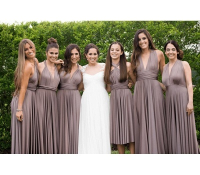 Taupe Multiway Infinity Bridesmaid Dresses | Convertible Wedding Party Dress_1