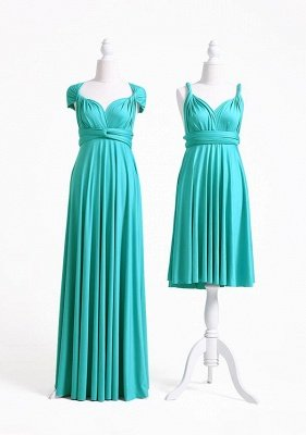 Turquoise Multiway Infinity Bridesmaid Dresses   Convertible Wedding Party Dress_3