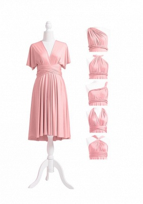 Dusty Rose Multiway Infinity Bridesmaid Dresses | Convertible Wedding Party Dress_5