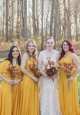 Mustard Yellow Multiway Infinity Bridesmaid Dresses | Convertible Wedding Party Dress