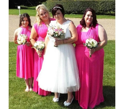 Fuchsia Multiway Infinity Bridesmaid Dresses   Convertible Wedding Party Dress_2