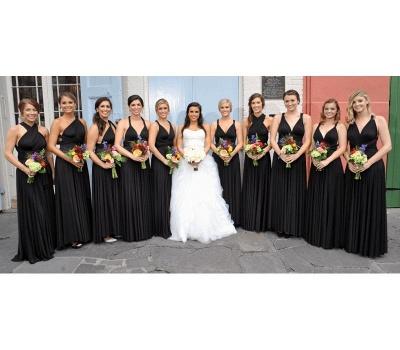 Black Multiway Infinity Bridesmaid Dresses   Convertible Wedding Party Dress_2