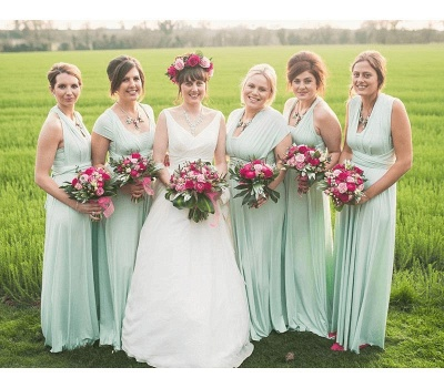 Sage Green Multiway Infinity Bridesmaid Dresses   Convertible Wedding Party Dress_3