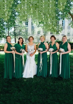 Emerald Green Multiway Infinity Bridesmaid Dresses | Convertible Wedding Party Dress