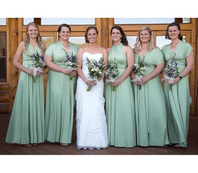 Sage Green Multiway Infinity Bridesmaid Dresses   Convertible Wedding Party Dress_2