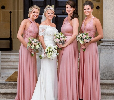 Dusty Rose Multiway Infinity Bridesmaid Dresses | Convertible Wedding Party Dress_1