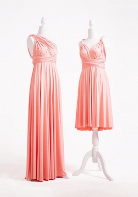 Peach Coral Multiway Infinity Bridesmaid Dresses   Convertible Wedding Party Dress_3