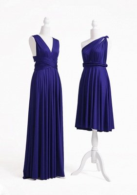 Midnight Blue Multiway Infinity Bridesmaid Dresses   Convertible Wedding Party Dress_3