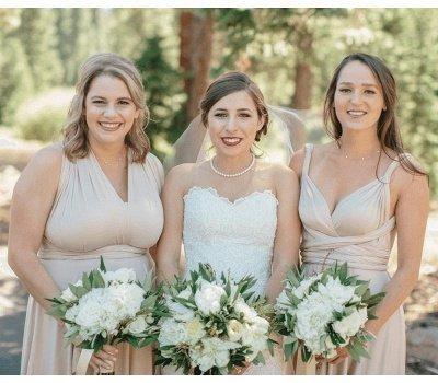 Multiway Infinity Short Bridesmaid Dresses   Convertible Wedding Party Dress_2