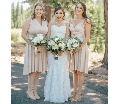 Multiway Infinity Short Bridesmaid Dresses   Convertible Wedding Party Dress_1