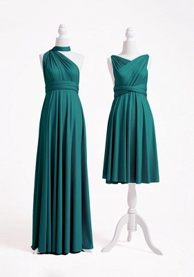 Teal Multiway Infinity Bridesmaid Dresses | Convertible Wedding Party Dress_4