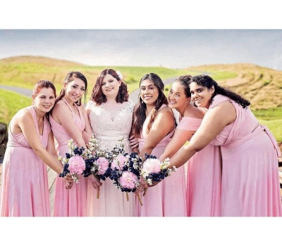 Baby Pink Multiway Infinity Bridesmaid Dresses   Convertible Wedding Party Dress_2