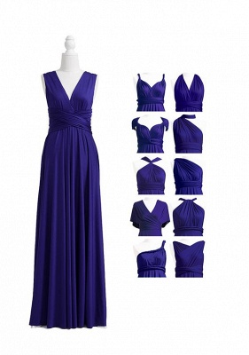 Midnight Blue Multiway Infinity Bridesmaid Dresses   Convertible Wedding Party Dress_4