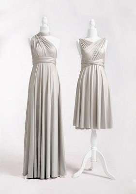 Silver Grey Multiway Infinity Bridesmaid Dresses | Convertible Wedding Party Dress_2