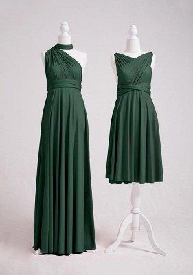 Dark Green Multiway Infinity Bridesmaid Dresses   Convertible Wedding Party Dress_3