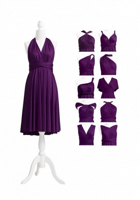 Dark Purple Multiway Infinity Bridesmaid Dresses | Convertible Wedding Party Dress_6
