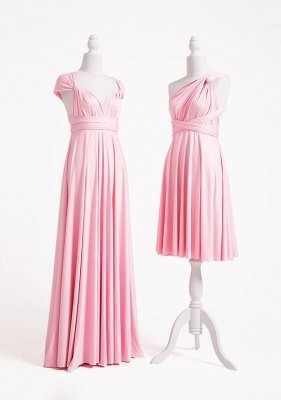 Blush Pink Multiway Infinity Bridesmaid Dresses | Convertible Wedding Party Dress_3