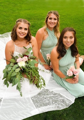 Sage Green Multiway Infinity Bridesmaid Dresses | Convertible Wedding Party Dress
