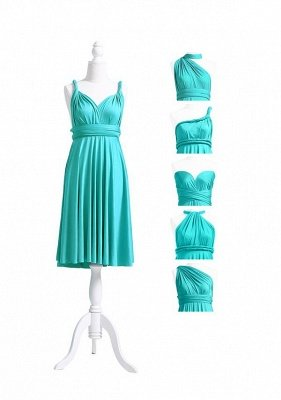 Turquoise Multiway Infinity Bridesmaid Dresses   Convertible Wedding Party Dress_6