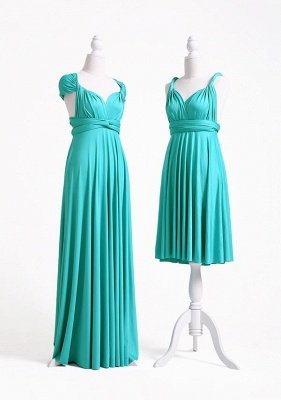 Turquoise Multiway Infinity Bridesmaid Dresses   Convertible Wedding Party Dress_4