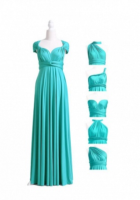 Turquoise Multiway Infinity Bridesmaid Dresses   Convertible Wedding Party Dress_5