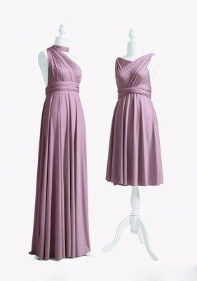 Mauve Multiway Infinity Bridesmaid Dresses   Convertible Wedding Party Dress_3