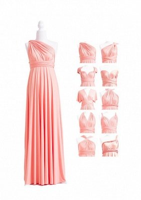 Peach Coral Multiway Infinity Bridesmaid Dresses   Convertible Wedding Party Dress_4