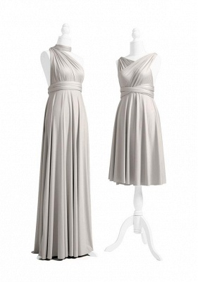 Silver Grey Multiway Infinity Bridesmaid Dresses | Convertible Wedding Party Dress_3