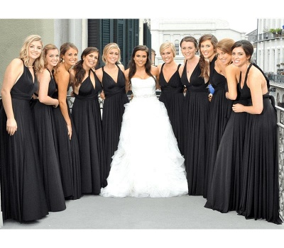 Black Multiway Infinity Bridesmaid Dresses   Convertible Wedding Party Dress_1