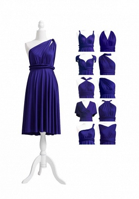 Midnight Blue Multiway Infinity Bridesmaid Dresses   Convertible Wedding Party Dress_5