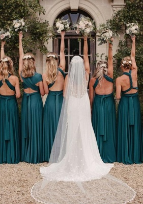 Teal Multiway Infinity Bridesmaid Dresses | Convertible Wedding Party Dress_3