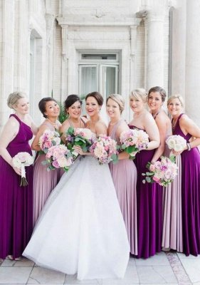 Purple Multiway Infinity Bridesmaid Dresses | Convertible Wedding Party Dress_1