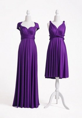 Purple Multiway Infinity Bridesmaid Dresses | Convertible Wedding Party Dress_2